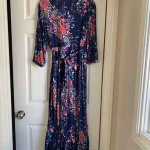Lovestitch Floral Wrap Maxi dress